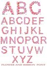 Free Flower And Ribbon Font Stock Photos - 20307533