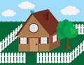 Free House With Picket Fence Royalty Free Stock Image - 20308876