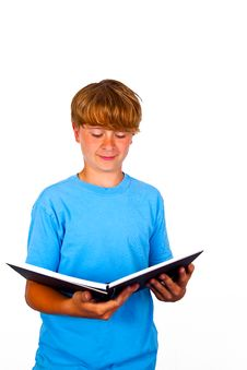 Free Handsome Teen With Book, Isolated Royalty Free Stock Images - 20300019