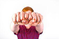 Free Cute Boy With Fist Stock Photos - 20300073