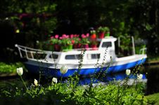 Free Flower Boat Royalty Free Stock Image - 20300096
