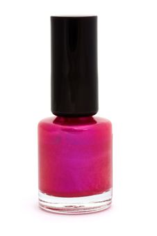 Free Pink Nail Varnish Over White Royalty Free Stock Images - 20300129