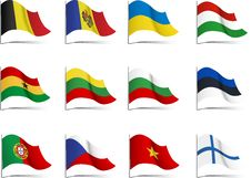 Free Flags Royalty Free Stock Photo - 20300235