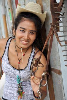 Free Regge Woman Thailand Asia Cowboy Stock Image - 20300561