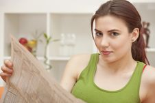 Free Woman With Newspaper Royalty Free Stock Images - 20301029