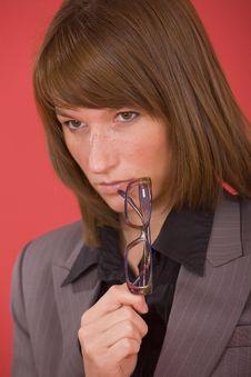 Free Thinking Businesswoman Stock Photo - 20301180