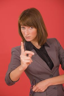 Free Woman Pointing With Finger Stock Photos - 20301233