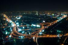 Free Bangkok Highway Ay Night Royalty Free Stock Image - 20301326