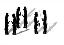 Free Men In Black With Fedoras Stock Images - 20301544