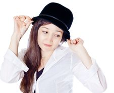 Free Girl In The Hat Royalty Free Stock Photos - 20302698