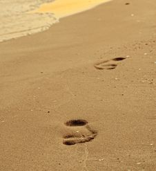 Free Footsteps On The Beach Stock Photography - 20302762