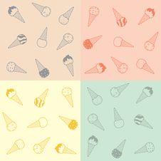 Free Ice-cream Pattern Royalty Free Stock Image - 20302856