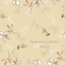 Free Vector Illustration: Seamless Pattern With Florets Royalty Free Stock Photo - 20302885