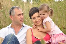 Free Happy Family In The Field Stock Photography - 20303762
