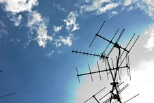 Free TV Antennas Royalty Free Stock Photo - 20303765
