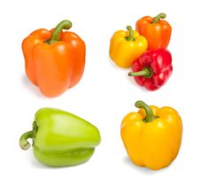 Free Bell-peppers Set Royalty Free Stock Photo - 20304155
