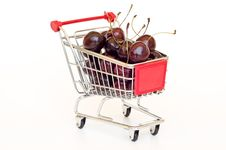 Free Cherry In A Cart Stock Photo - 20304190