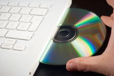 Free Cd In A Notebook Royalty Free Stock Image - 20304226