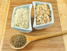 Free Rice,oats And Herbs Stock Image - 20304541
