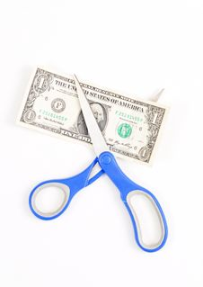 Free Cutting A Dollar Bill Stock Images - 20305464
