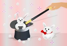Free Bunny In The Topper, Cdr Vector Stock Images - 20305684