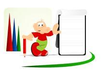 Free Cartoon Man And Notepad, Cdr Vector Royalty Free Stock Photography - 20305687