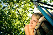Free Lying Woman Outdoors Royalty Free Stock Images - 20306009