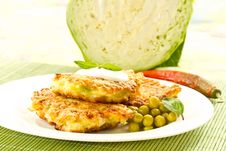 Cabbage Pancakes Royalty Free Stock Image