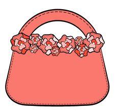 Free Cartoon Woman S Bag. Royalty Free Stock Images - 20307109