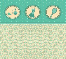 Free Cartoon Vintage Woman S Elements. Stock Photography - 20307202