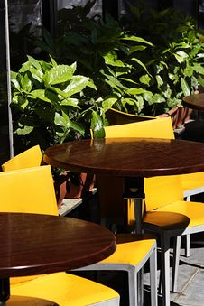 Free Yellow Outdoor Cafe After The Shower Royalty Free Stock Photo - 20307275