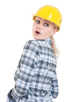 Free Girl With Hard Hat Stock Images - 20307894