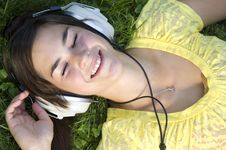 Free Beautiful Young Woman With Music Royalty Free Stock Photo - 20307995