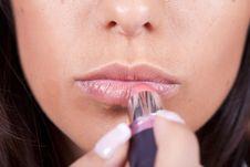 Free Woman Applying Lipstick Stock Photo - 20308470