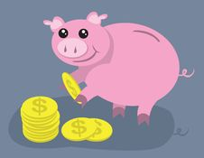 Free Piggy Bank Royalty Free Stock Photography - 20308877
