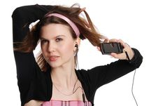 Free The Girl With A Cellular Telephone Royalty Free Stock Image - 20309766