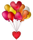 Free Balloons With A Red Heart Royalty Free Stock Images - 20310049