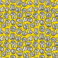 Free Cartoon Hands Seamless Pattern Stock Photography - 20310102