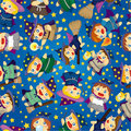 Free Cartoon Wizard And Witch Magic Seamless Pattern Royalty Free Stock Photo - 20310105