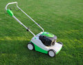 Free Mower Is On The Lawn Royalty Free Stock Photography - 20310777