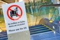 Free Warning Sign Before Escalator Royalty Free Stock Image - 20310846