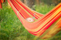 Free Adorable Baby Relaxing In Hammock Stock Photography - 20312002