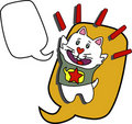 Free Talking And Jumping Cat Royalty Free Stock Photos - 20316298