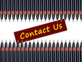 Free Contact Us With Pens Stock Image - 20316781
