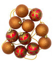 Free Gold And Red Christmas Balls Stock Image - 20318711