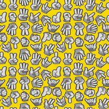 Free Cartoon Hands Seamless Pattern Stock Photography - 20310102