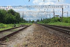 Free Railroad Tracks Royalty Free Stock Photos - 20310468