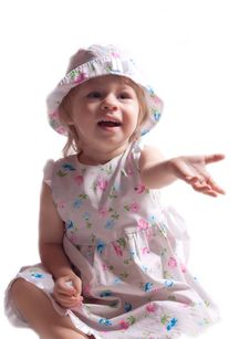 Free The Little Girl In A Dress With Arm Outstretched Stock Photography - 20311232