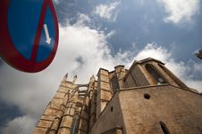 Cathedral In Palma, Mallorca, Spain Stock Images