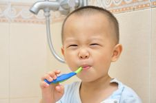 Free Baby Brush Teeth Stock Photography - 20312262